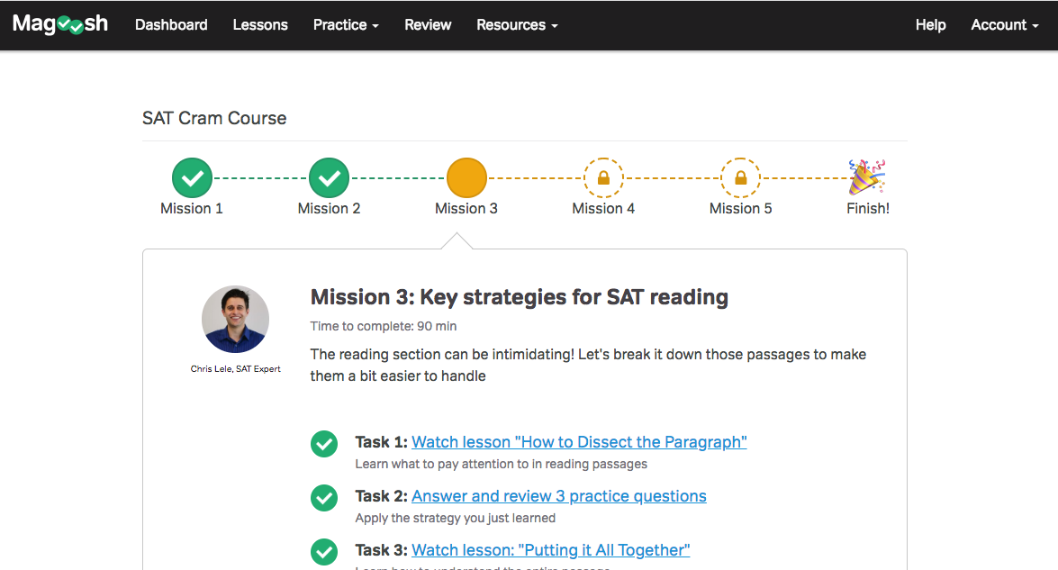 SAT Cram Course