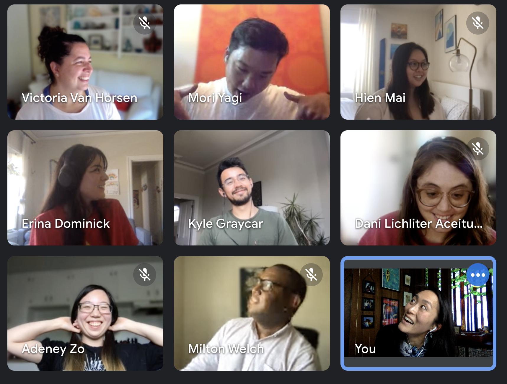 Magooshers being silly on a video chat